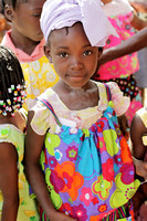 A recipient of Lori's colorful clothing for the little girls.